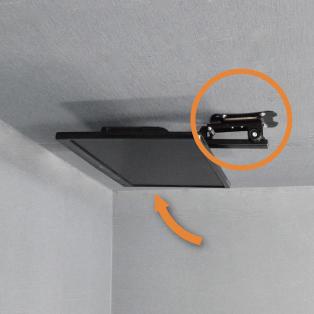【19〜32型対応】斜め天井対応テレビ天吊り金具 長さ調節付き  PRM-CP08【VESA100x100,200x100,200x200対応】