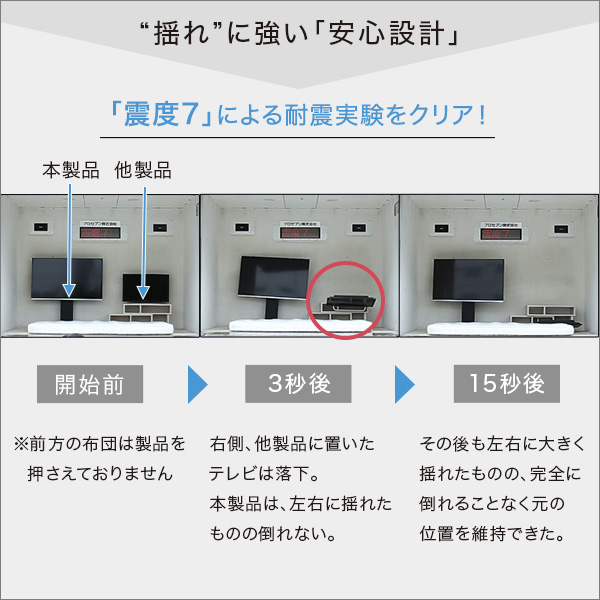 壁寄せテレビスタンド スイング/ロータイプ 【代引不可】