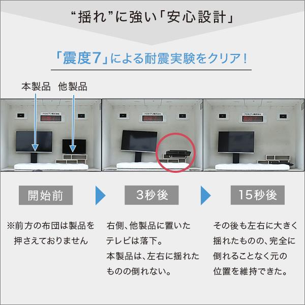 壁寄せテレビスタンド 固定/ロータイプ【代引不可】
