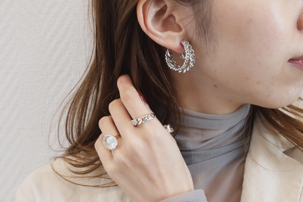 double chain pierce/earring