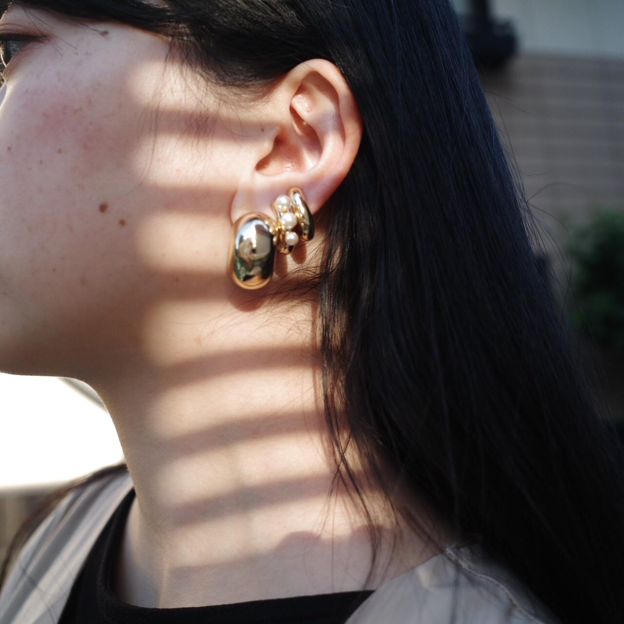 macaroni hoop pierce/earring