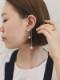 snake chain pearl earcuff
