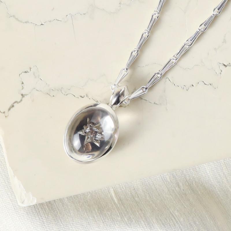 crystal cobochon signature pendant