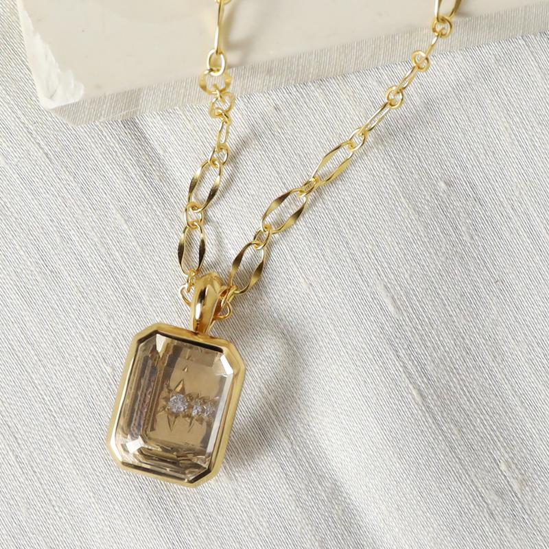 crystal signature pendant