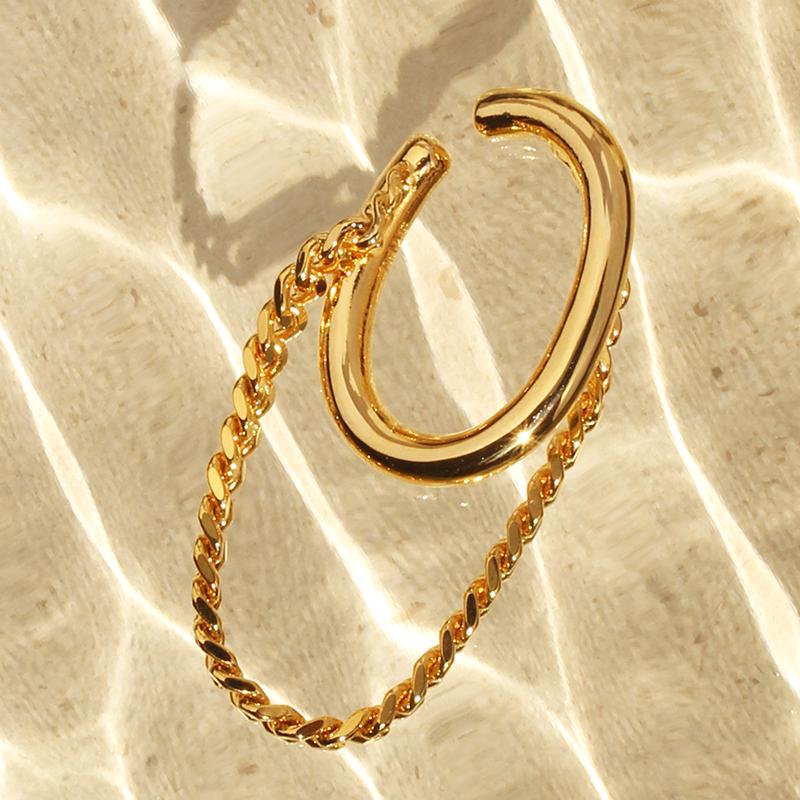 double chain earcuff