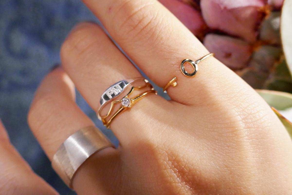 【WEB限定】 Slim Signet Ring