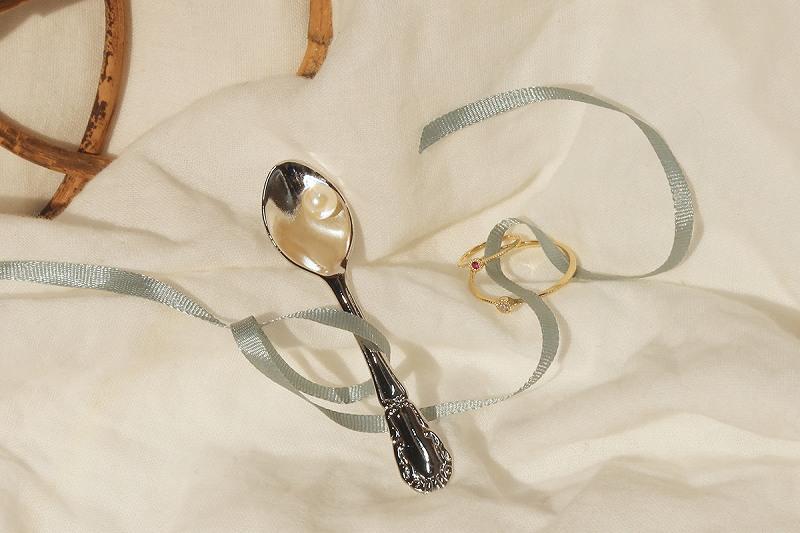 【オーダー】 ベビーリング 4月ダイヤモンド