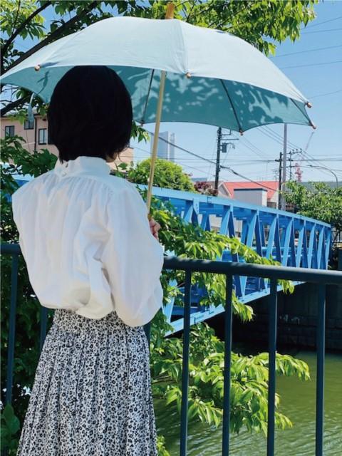 ロンドバンブー長傘(ブルー)
