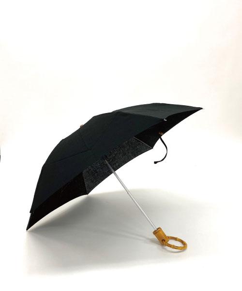 ロンドバンブー折りたたみ傘(BK無地)