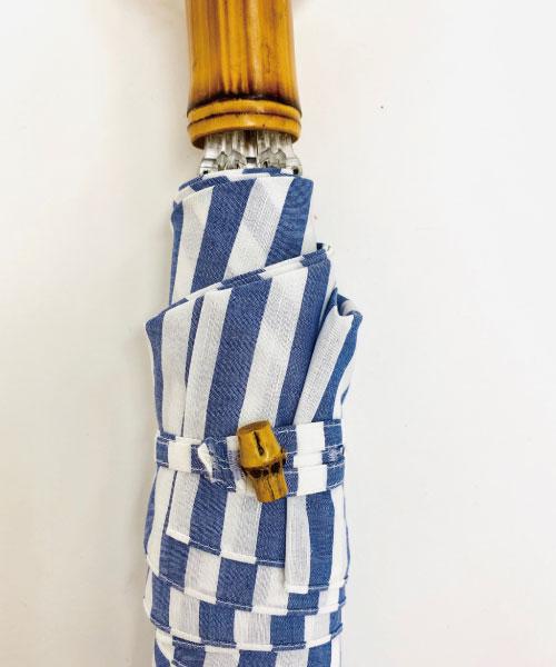 ロンドバンブー折りたたみ傘(ストライプ)