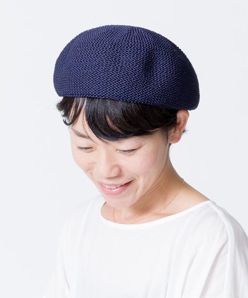 ストローヤーンベレー帽