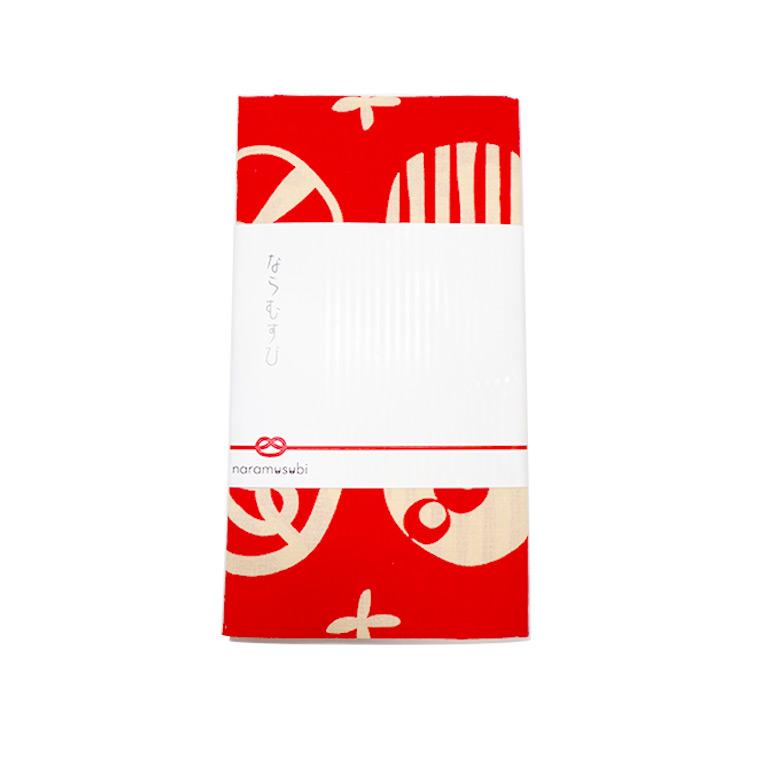奈良のおみやげ ならむすび手ぬぐい 赤 約94×33cmアンシャンテラボ /奈良 nara deer お土産 おみやげ OMIYAGE てぬぐい デザイン【ゆうパケット対応】