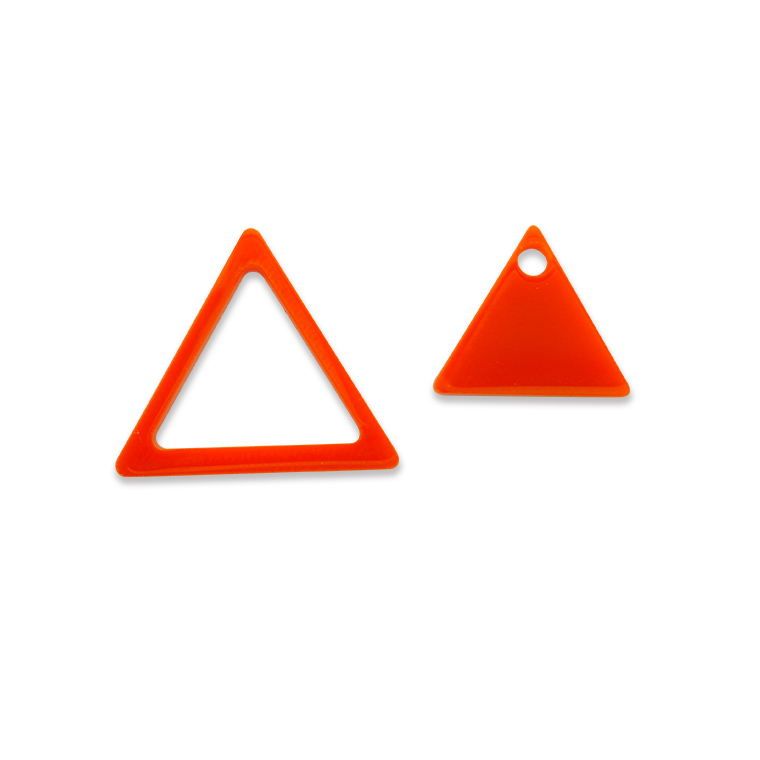 3cm アクリルチャーム フレーム付き 三角形 厚さ:2mm 選べる豊富なカラー アンシャンテラボ / アクセサリーパーツ ピアス イヤリング ブレスレットハンドメイド材料 レジン資材 【ゆうパケット対応】