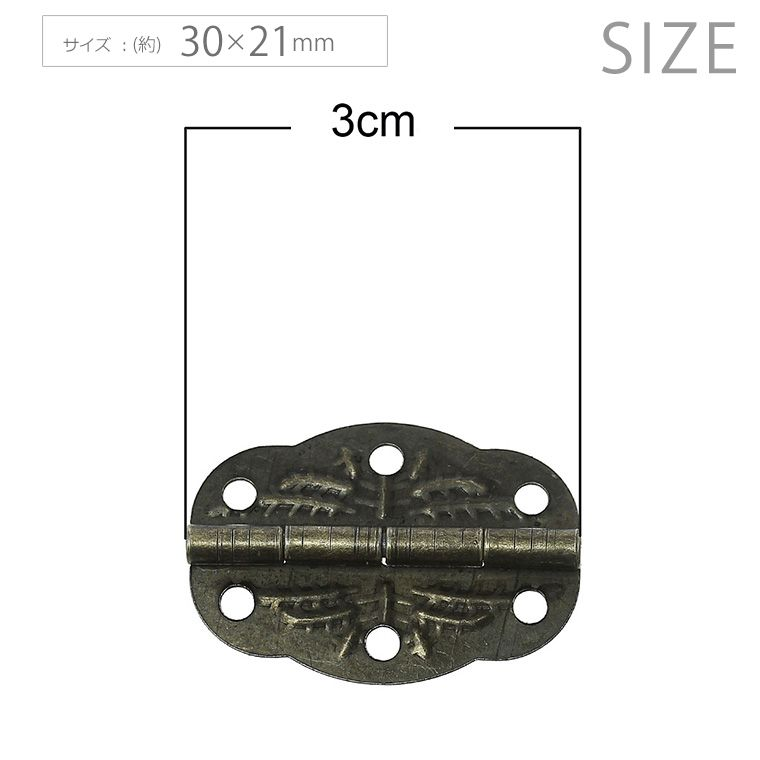 3.0×2.1cm 2個入 蝶番 ドアヒンジ アンティーク風 【ゆうパケット対応】