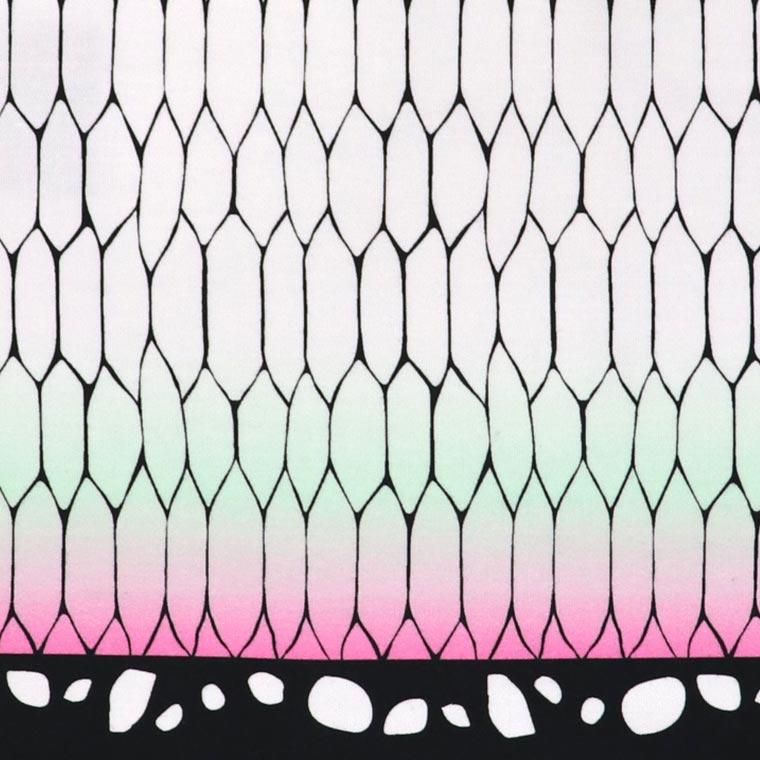 蝶の羽模様 幅110cm 長さ10cm オックス生地 / 布 綿100% 白 ホワイト エメラルドグリーン 緑 ちょう チョウ 羽 ピンク 桃 手作り ハンドメイド材料 資材 【ゆうパケット対応】