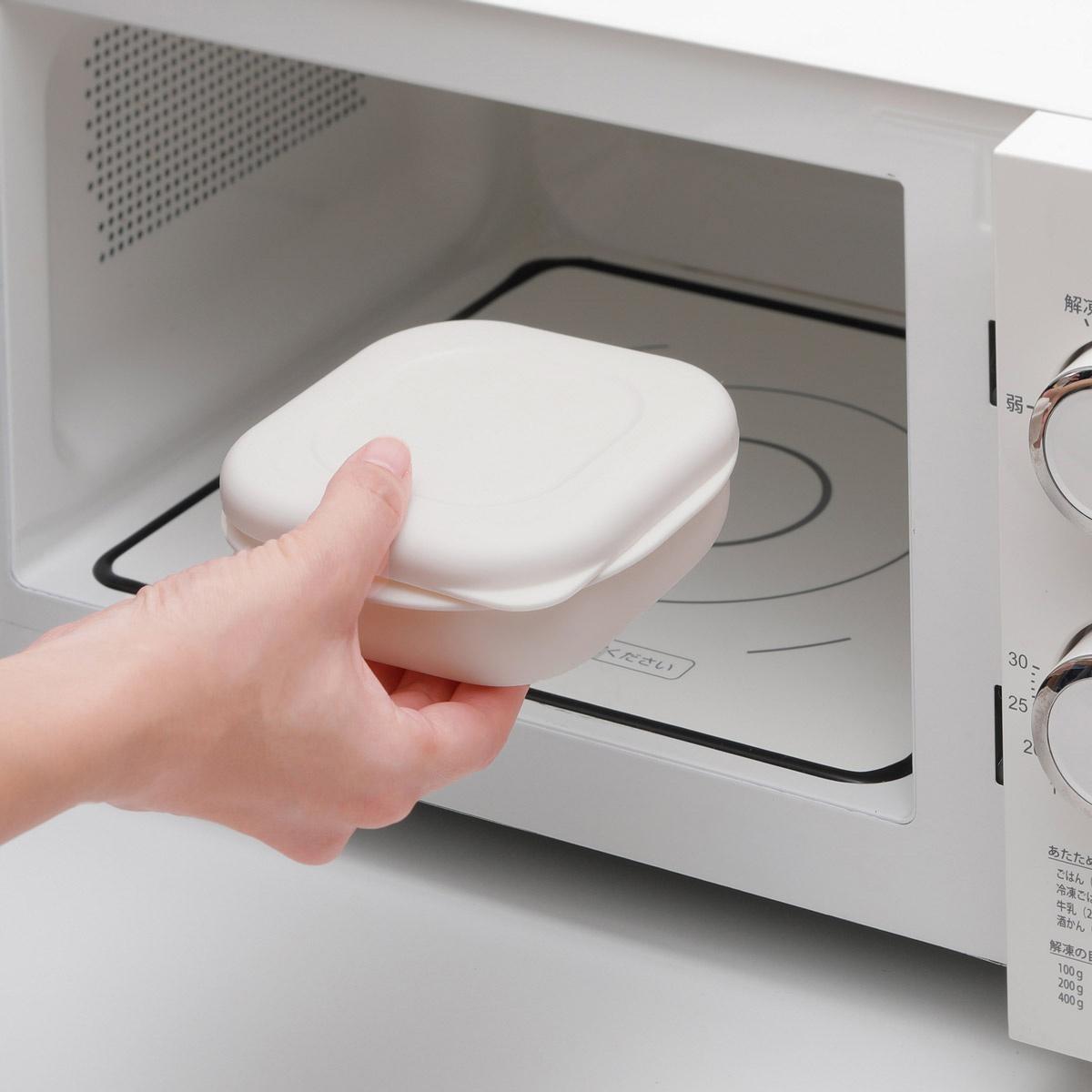 極 冷凍ごはん容器 2個入り ホワイト