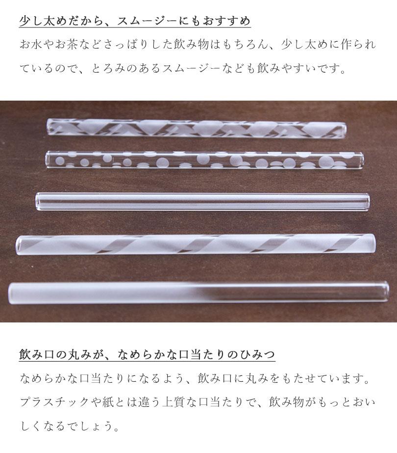 iriser ガラスストロー5本セット 15cm