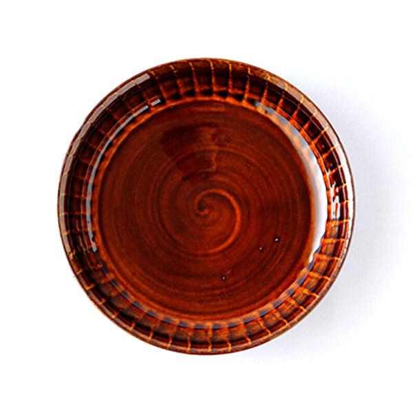 小石原焼 圭秀窯 浅鉢(飴釉)