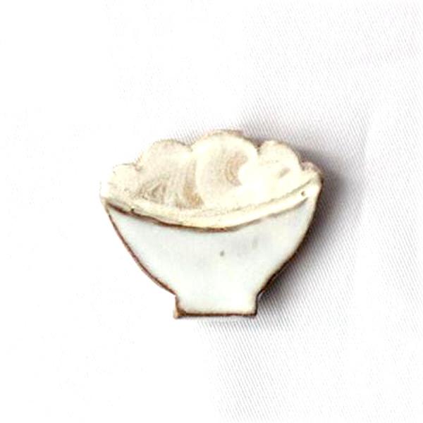 小石原焼 圭秀窯 山盛りご飯箸置き(白釉)