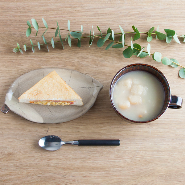 小石原焼 圭秀窯 スープカップ(飴釉)