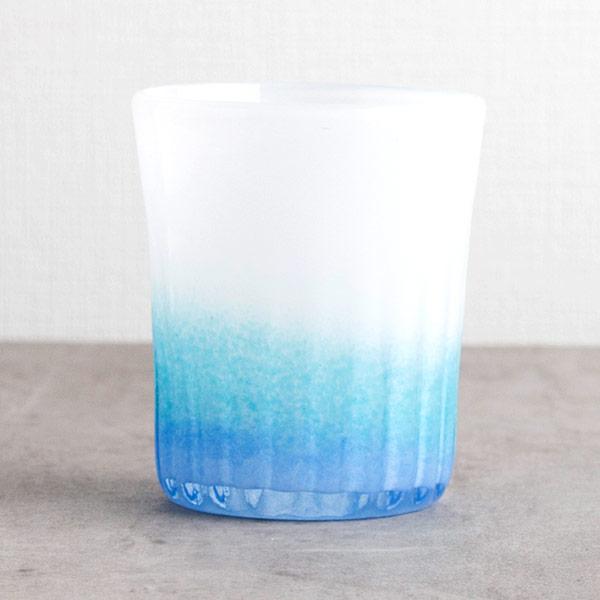 琉球ガラス グラスアート藍 LAGOON グラス