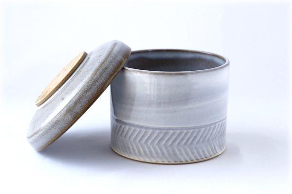 小石原焼 圭秀窯 おひつ 小(白釉)