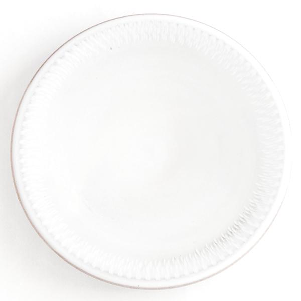 小石原焼 圭秀窯 飛び鉋パン皿(白釉)