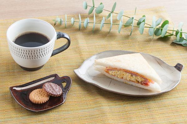 小石原焼 圭秀窯 マグカップ豆皿(白釉)