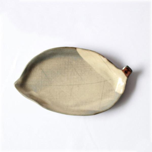 小石原焼 ヤママル窯 木の葉皿