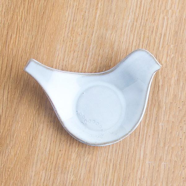 小石原焼 圭秀窯 鳥小皿(白釉)