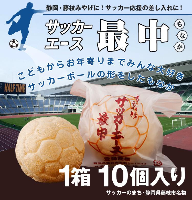 藤枝名物 【甘栄堂】サッカーエース最中(10個入り)