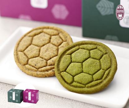 【一言】藤枝かおり抹茶サッカークッキー(8枚入り)