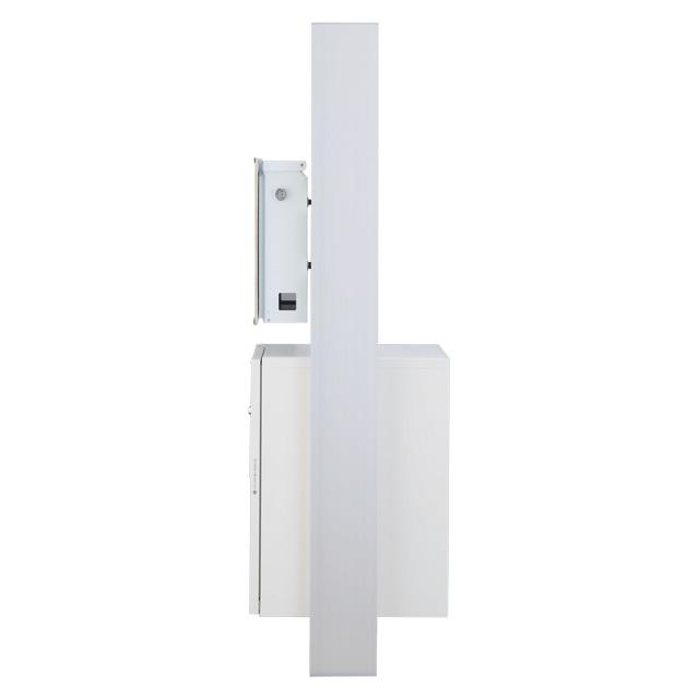 【表札灯付】 宅配ボックス搭載門柱 ストレーゼワイド ミドル ETBPW-L ※インターホンは付属していません