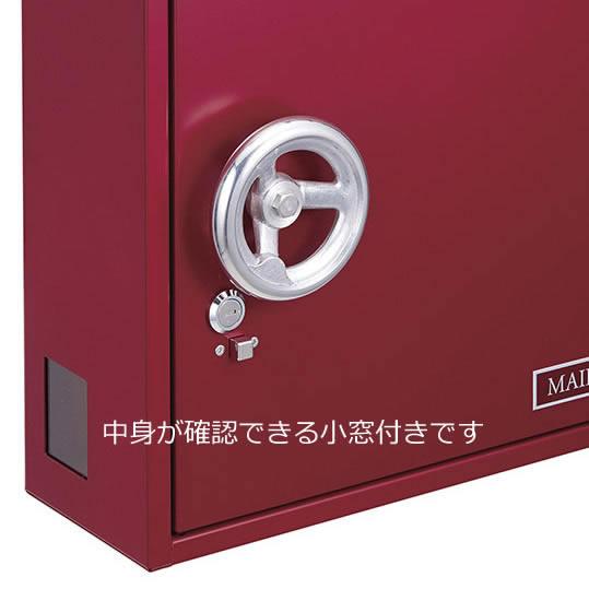 美濃クラフト 郵便ポスト ROWEL ロウェル EMK-ROWEL-MS メタリックシルバー色 鍵付き
