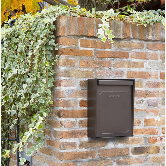 コーワソニア 郵便ポスト BASARA バサラ ダークブラウン色 上入れ上出し 可変式コンビネーションロック