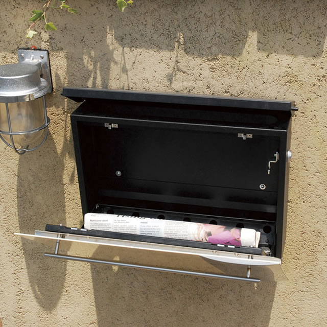 オンリーワン 郵便ポスト ノイエキューブ スパーク GM1-EZS2 壁掛け仕様 メタリックシルバー色 鍵付き