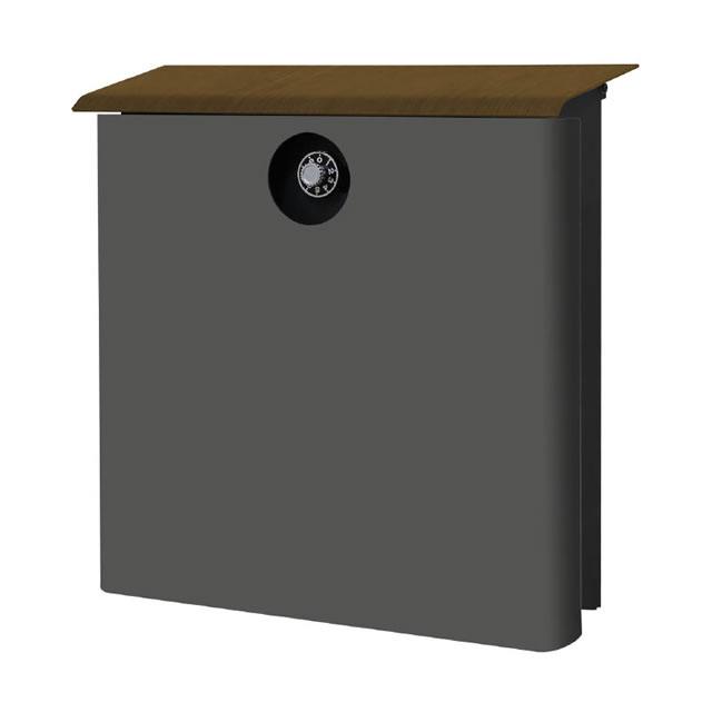 オンリーワン 郵便ポスト イル ヴァリオ House ハウス NA1-IV21FC 壁掛タイプ フロストチャコールグレー色 ダイヤル錠付き