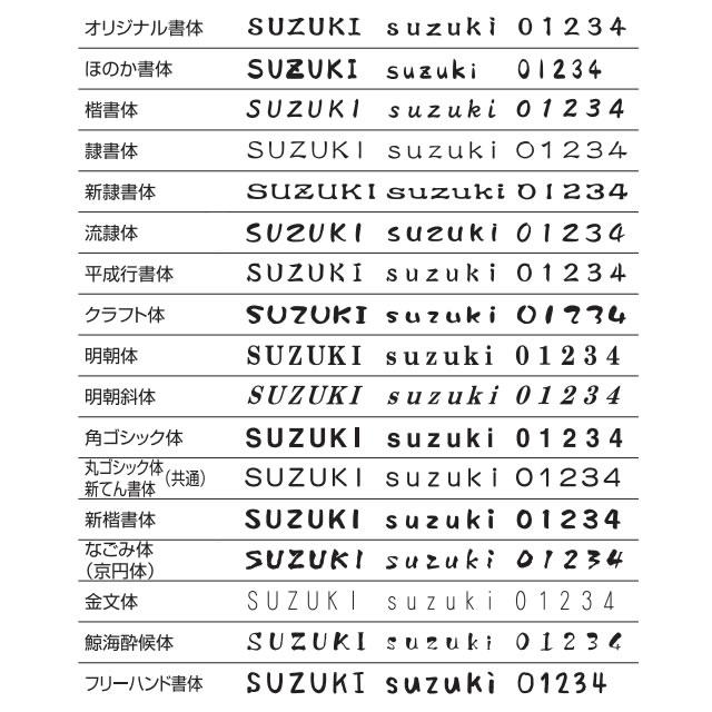 選べる書体 オーダー表札 丸三タカギ プレート フェイキー SLE-BX-785 幅210×高40mm