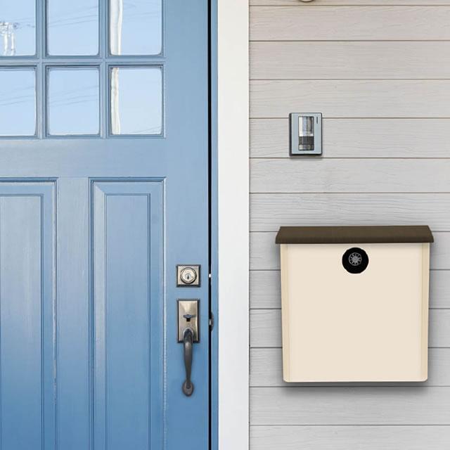 オンリーワン 郵便ポスト イル ヴァリオ House ハウス NA1-IV21FM 壁掛タイプ フロストミルキーホワイト色 ダイヤル錠付き