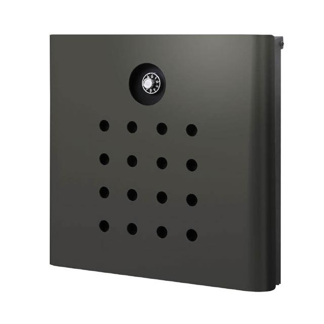 オンリーワン 郵便ポスト イル ヴァリオ Punch パンチ NA1-IV06FC 壁掛タイプ フロストチャコールグレー色 ダイヤル錠付き