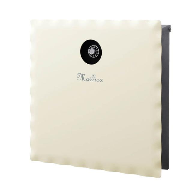オンリーワン 郵便ポスト イル ヴァリオ スカラップ NA1-IV07IV 壁掛タイプ アイボリー色 ダイヤル錠付き