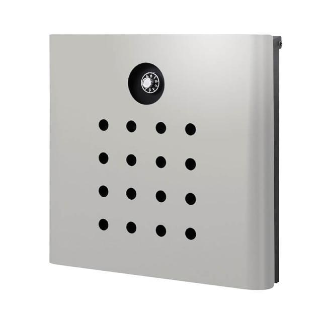 オンリーワン 郵便ポスト イル ヴァリオ Punch パンチ NA1-IV06LG 壁掛タイプ ライトグレー色 ダイヤル錠付き
