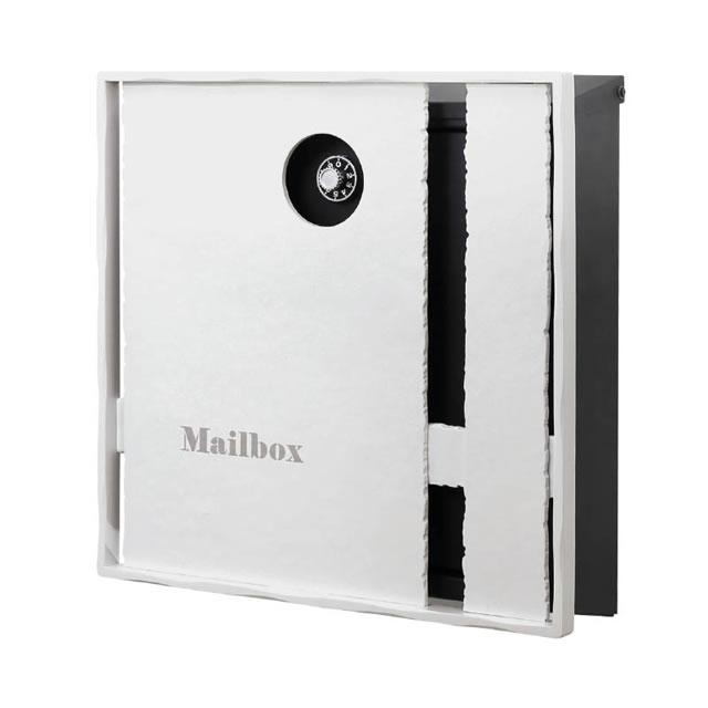 オンリーワン 郵便ポスト イル ヴァリオ Edge エッジ NA1-IV12EWH 壁掛タイプ ホワイト色 ダイヤル錠付き