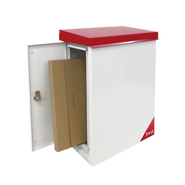 郵便ポスト オンリーワン Merry メリー KS1-B193N1 壁付け型 左勝手 ブラウン色 鍵付き ※壁付け型には別途オプションの壁面取付板の購入が必要
