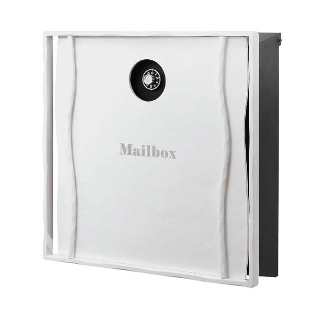 オンリーワン 郵便ポスト イル ヴァリオ Natural ナチュラル NA1-IV13NWH 壁掛タイプ ホワイト色 ダイヤル錠付き