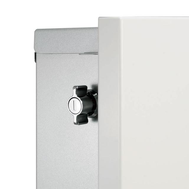 郵便ポスト オンリーワン Merry メリー KS1-B193O1 壁付け型 左勝手 レッド色 鍵付き ※壁付け型には別途オプションの壁面取付板の購入が必要