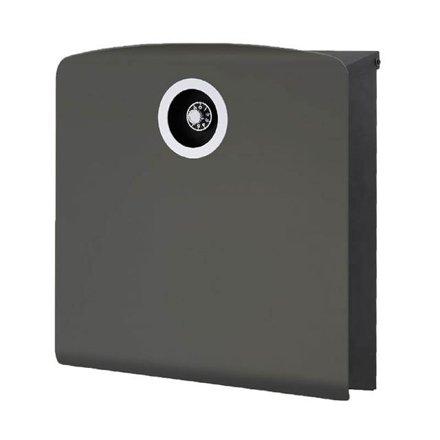 オンリーワン 郵便ポスト イル ヴァリオ Korat コラット NA1-IV20FC 壁掛タイプ フロストチャコールグレー色 ダイヤル錠付き