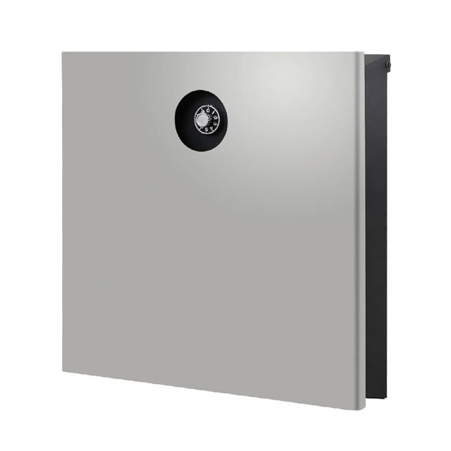オンリーワン 郵便ポスト イル ヴァリオ Piano ピアーノ NA1-IV15LG 壁掛タイプ ライトグレー色 ダイヤル錠付き
