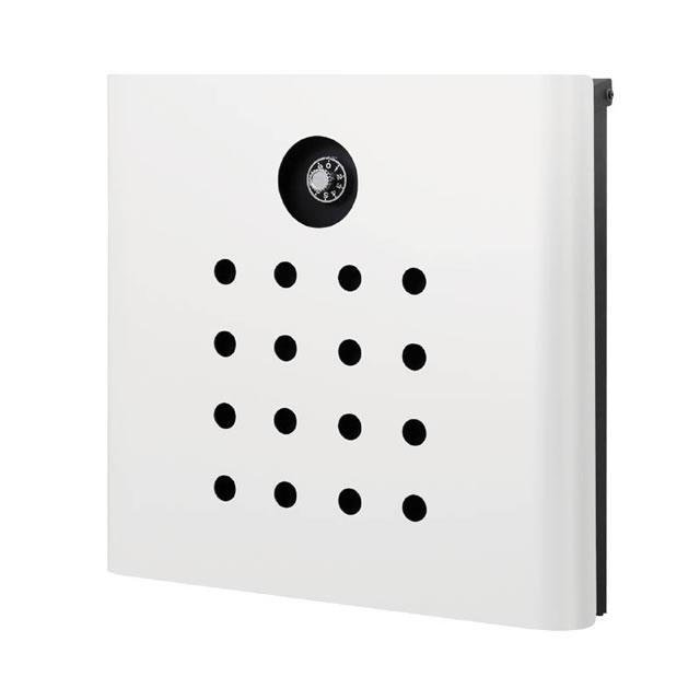 オンリーワン 郵便ポスト イル ヴァリオ Punch パンチ NA1-IV06WH 壁掛タイプ ホワイト色 ダイヤル錠付き