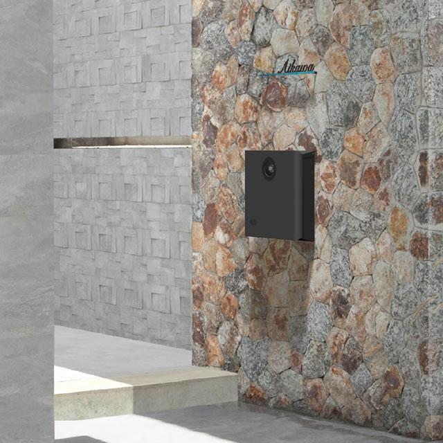 オンリーワン 郵便ポスト イル ヴァリオ Rosetta ロゼッタ NA1-IV03FC 壁掛タイプ フロストチャコールグレー色 ダイヤル錠付き